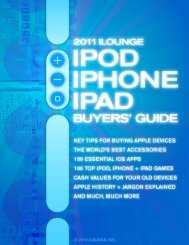 2011 iLounge iPod/iPhone/iPad Buyers' Guide