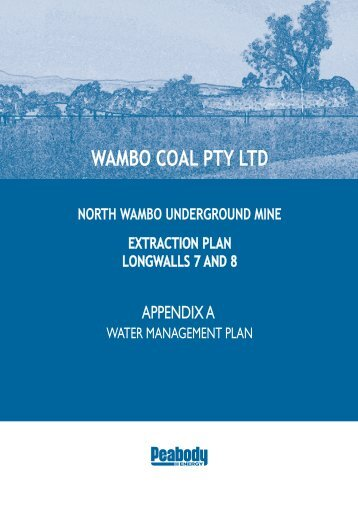 Water Management Plan - Peabody Energy