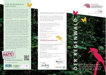 DER REGENW ALD - Regenwald-Ausstellung