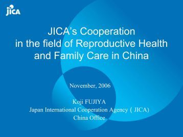 Cooperation between China and Japan in Areas of RH and Family ...