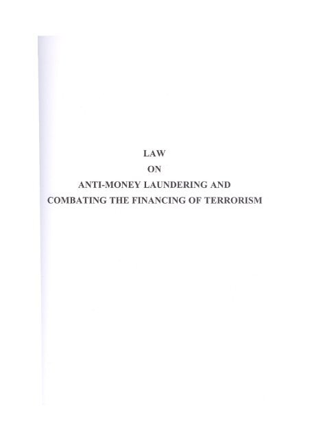 law anti-money laundering and combating the financing of terrorism
