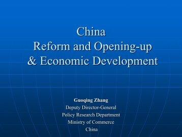 China Reform and Opening-up & Economic Development