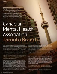 Click Here - Canadian Mental Health Association, Toronto Branch