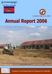 Annual Report 2006 - Cambodian Mine Action Centre
