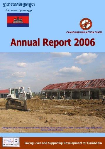 Annual Report 2006 - Cambodian Mine Action Centre