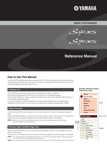 S90 XS/S70 XS Reference Manual - zZounds.com