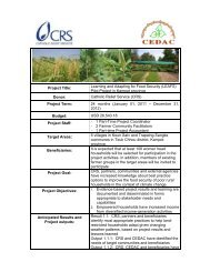 Learning and Adapting for Food Security (LEAFS) Pilot ... - cedac
