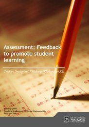 Assessment: Feedback to promote student learning - The University ...