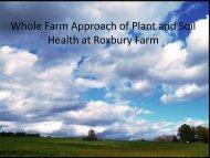 Whole Farm Approach of Plant and Soil Health at Roxbury Farm