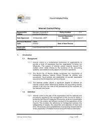 C3 - Internal Control Policy - Rural City of Murray Bridge