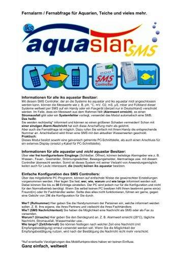 Fernalarm / Fernabfrage für Aquarien, Teiche und vieles mehr - IKS