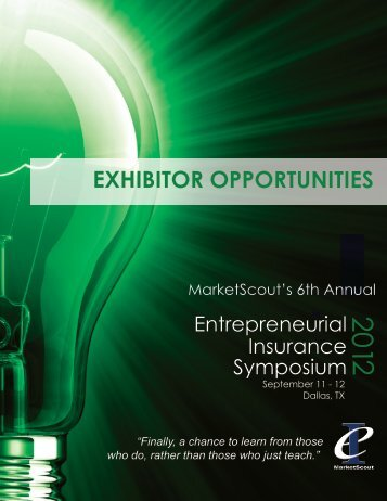 EXHIBITOR OPPORTUNITIES - Entrepreneurial Insurance Symposium