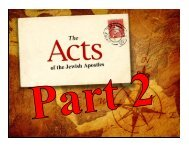 Acts of the Jewish Apostles Part 2 - Congregation Yeshuat Yisrael