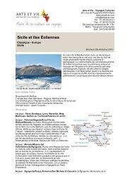 Sicile et îles Éoliennes - Arts et Vie