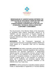 6.2 Memorandum of Understanding between ASEAN and China on ...