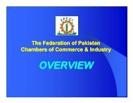 FPCCI - PROFILE - The Federation of Pakistan Chambers of ...