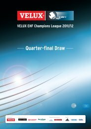 Quarter-final Draw - European Handball Federation
