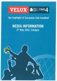 VELUX® QF—UZFINAq - European Handball Federation