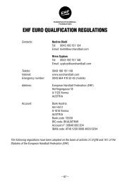 EHF EURO QUALIFICATION REgULATIONs - European Handball ...