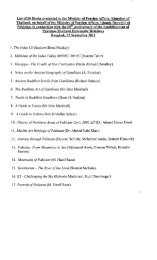 List of 60 Books presented to the Ministry of Foreign Affairs ...
