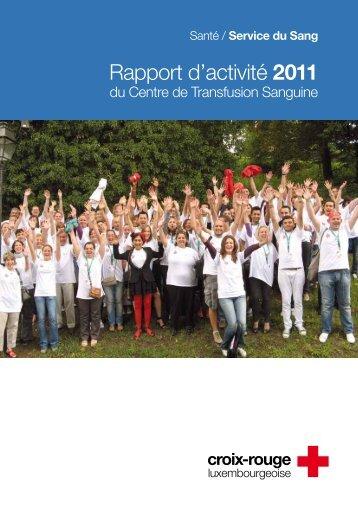 Rapport d'activité 2011 - Croix-Rouge luxembourgeoise