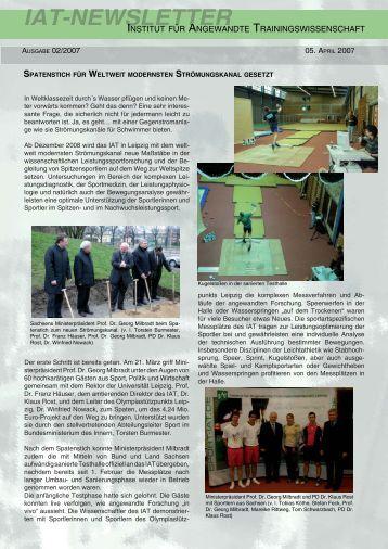 Newsletter 2/2007 - Institut für Angewandte Trainingswissenschaft ...