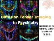 DTI in psychiatric diseases Kwon Jun-soo