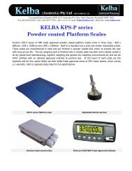 KPS-P Powdercoated platform Scale Brochure - Kelba