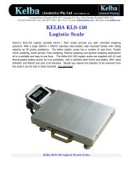 Kelba KLS-150 Logistic Scale Brochure