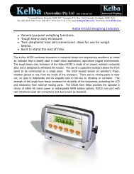 Kelba KX320 Weighing Indicator • General purpose weighing ...