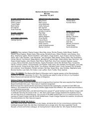 Bentonville Board of Education Minutes December 19, 2011 BOARD ...