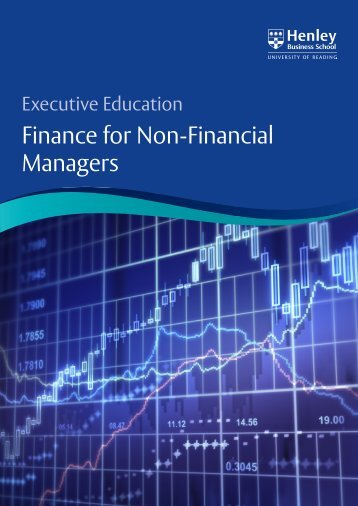 Finance for Non-Financial Managers - Henley Business School
