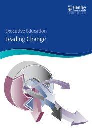 Leading Change - Henley Business School