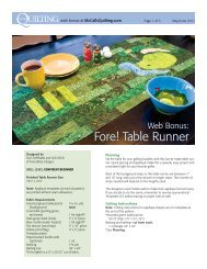 Fore! Table Runner - McCalls Quilting