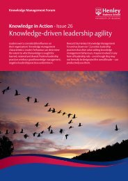 Knowledge in action - Issue 26 (PDF) - Henley Business School