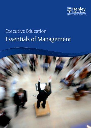 Essentials of Management - Henley Business School