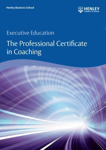 The Professional Certificate in Coaching - Henley Business School