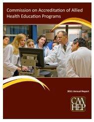 CAAHEP Annual Report 2010-2011