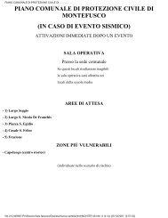 piano comunale di protezione civile di montefusco