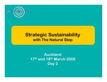Strategic Sustainability - The Natural Step