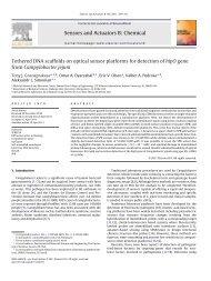 Tethered DNA scaffolds on optical sensor platforms for detection of ...