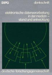 Elektronische Datenverarbeitung in der Medizin - Stand und ...
