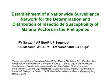 Philippines - Asian Collaborative Training Network for Malaria