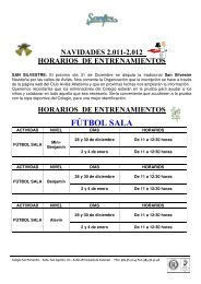 FÚTBOL SALA - Colegio San Fernando