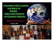the role of women parliamentarians on climate change - CAPWIP