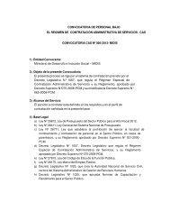 Bases - Ministerio de Desarrollo e Inclusión Social