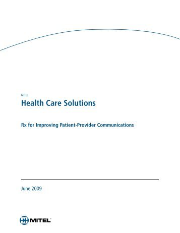 Health Care Solutions White Paper - Ash Telecom