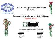 Solvents & Surfaces – Lipid's Bane - Lipid Maps