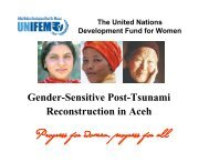 Gender-Sensitive Post-Tsunami Reconstruction in Aceh, Dr - CAPWIP