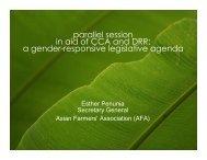 A Gender Responsive Agenda, Ms, Esther - CAPWIP